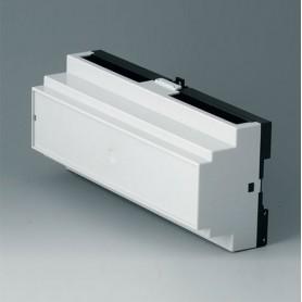 B6506112 / RAILTEC B, 12 módulos, Vers. IIPC (UL 94 V-0) - light grey RAL 7035 - 210x90x58mm