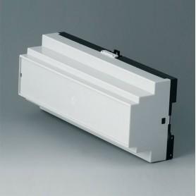 B6506113 / RAILTEC B, 12 módulos, Vers. III - PC (UL 94 V-0) - light grey RAL 7035 - 210x90x58mm