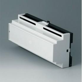 B6506117 / RAILTEC B, 12 módulos, Vers. IV - PC (UL 94 V-0) - light grey RAL 7035 - 210x90x58mm