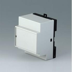 B6513112 / RAILTEC B, 4 módulos, Vers. XII - PC (UL 94 V-0) - light grey RAL 7035 - 70x86x58mm