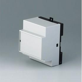 B6513113 / RAILTEC B, 4 módulos, Vers. XIII - PC (UL 94 V-0) - light grey RAL 7035 - 70x86x58mm