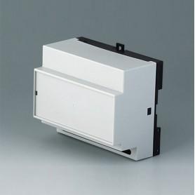B6514111 / RAILTEC B, 6 módulos, Vers. XI - PC (UL 94 V-0) - light grey RAL 7035 - 105x86x59mm