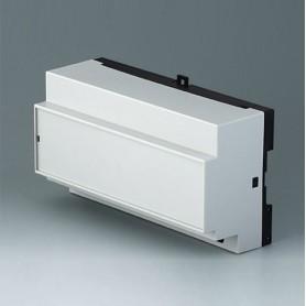 B6515111 / RAILTEC B, 9 módulos, Vers. XI - PC (UL 94 V-0) - light grey RAL 7035 - 157x86x59mm