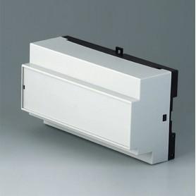 B6515112 / RAILTEC B, 9 módulos, Vers. XII - PC (UL 94 V-0) - light grey RAL 7035 - 157x86x59mm