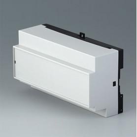 B6515113 / RAILTEC B, 9 módulos, Vers. XIII - PC (UL 94 V-0) - light grey RAL 7035 - 157x86x59mm