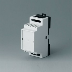 B6501114 / RAILTEC B, 2 módulos, Vers. I - PC (UL 94 V-0) - light grey RAL 7035 - 35x86x58mm