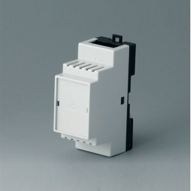 B6501115 / RAILTEC B, 2 módulos, Vers. II - PC (UL 94 V-0) - light grey RAL 7035 - 35x86x58mm