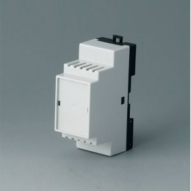 B6501116 / RAILTEC B, 2 módulos, Vers. III - PC (UL 94 V-0) - light grey RAL 7035 - 35x86x58mm