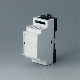 B6501118 / RAILTEC B, 2 módulos, Vers. IV - PC (UL 94 V-0) - light grey RAL 7035 - 35x86x58mm