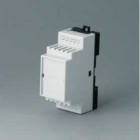 B6501119 / RAILTEC B, 2 módulos, Vers. V - PC (UL 94 V-0) - light grey RAL 7035 - 35x86x58mm
