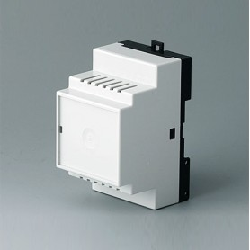 B6502116 / RAILTEC B, 3 módulos, Vers. III - PC (UL 94 V-0) - light grey RAL 7035 - 52,5x86x58mm