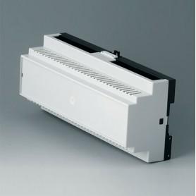 B6506115 / RAILTEC B, 12 módulos, Vers. II - PC (UL 94 V-0) - light grey RAL 7035 - 210x90x58mm