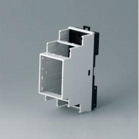 B6501121 / RAILTEC B, 2 módulos, Vers. VI - PC (UL 94 V-0) - light grey RAL 7035 - 35x90x58mm