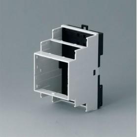 B6502121 / RAILTEC B, 3 módulos, Vers. VI - PC (UL 94 V-0) - light grey RAL 7035 - 52,5x90x58mm