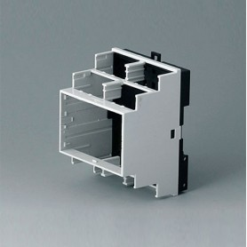B6503121 / RAILTEC B, 4 módulos, Vers. VI - PC (UL 94 V-0) - light grey RAL 7035 - 70x90x58mm