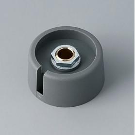 """A3031068 / COM-KNOBS 31 - Con orificio para elemento de marcaje """"Dial"""" 31x16mm - PA 6 - volcano - Orificio de eje 6 mm"""