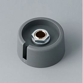 "A3031638 / COM-KNOBS 31 - Con orificio para elemento de marcaje ""Dial"" 31x16mm - PA 6 - volcano - Orificio de eje 1/4″"