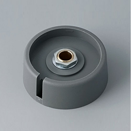 "A3040068 / COM-KNOBS 40 - Con orificio para elemento de marcaje ""Dial"" 40x16mm - PA 6 - volcano - Orificio eje 6 mm"