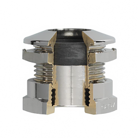1040.17.40.065 / Prensaestopas Progress® ultraFLAT de latón niquelado - M16x1.5