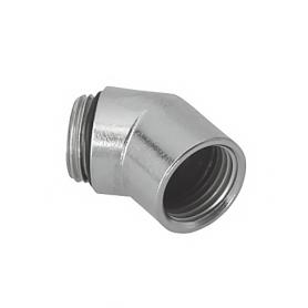 5717 / Prensaestopas Codos de latón niquelado a 45 ° con rosca interior y exterior - M16x1.5