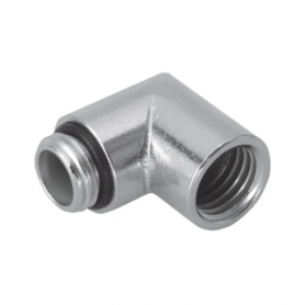 5620 / Prensaestopas Progress® codo de latón niquelado 90º - Rosca métrica rosca interna y externa - M20x1.5