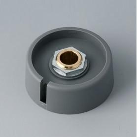 "A3040088 / COM-KNOBS 40 - Con orificio para elemento de marcaje ""Dial"" 40x16mm - PA 6 - volcano - Orificio eje 8 mm"