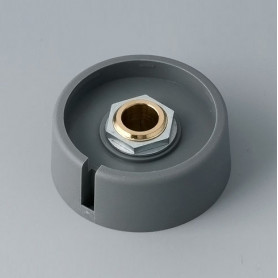 """A3040088 / COM-KNOBS 40 - Con orificio para elemento de marcaje """"Dial"""" 40x16mm - PA 6 - volcano - Orificio de eje 8 mm"""