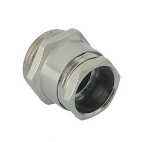 B 107 / Prensaestopas de latón niquelado según DIN 46320-C4-MS - Rosca métrica de entrada CORTA - Pg 7