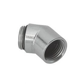 5711 / Prensaestopas Codos de latón niquelado a 45 ° con rosca interior y exterior - Pg 11