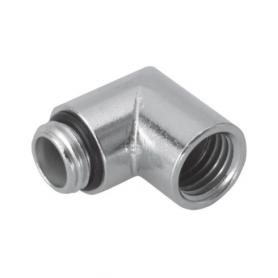 5613 / Prensaestopas Progress® codo de latón niquelado 90º - Rosca métrica rosca interna y externa - Pg 13