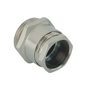 B 113 / Prensaestopas de latón niquelado según DIN 46320-C4-MS - Rosca métrica de entrada CORTA - Pg 13