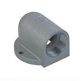5516.12 / Prensaestopas Codo con brida de zinc 90 ° fundición a presión - Pg 16