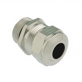 1180.12.075 / Prensaestopas Progress® EMC de latón niquelado con manguito de contacto - Rosca métrica de entrada LARGA - M12x1.5
