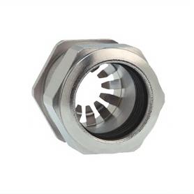 1081.17.100 / Prensaestopas Progress® EMC Rapid Latón niquelado con disco de contacto - Rosca métrica entrada CORTA - M16x1.5