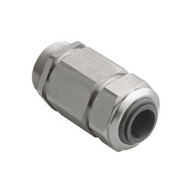 1000.17.85.080 / Prensaestopas Progress® EMC Serie 85 de latón niquelado con pinza de sujeción - Rosca métrica entrada - M16x1.5