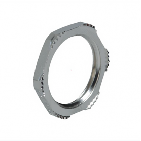 8020.85 / Accesorio Prensaestopas Tuercas de fijación EMC Latón niquelado con dientes de corte - M20x1.5