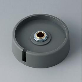 """A3050068 / COM-KNOBS 50 - Con orificio para elemento de marcaje """"Dial"""" 50x16mm - PA 6 - volcano - Orificio de eje 6 mm"""