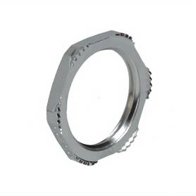 8050.85 / Accesorio Prensaestopas Tuercas de fijación EMC Latón niquelado con dientes de corte - M50x1.5