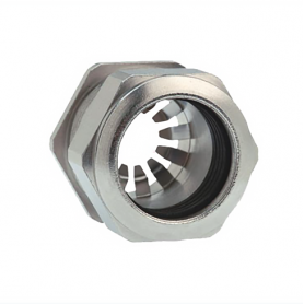 1081.07.060 / Prensaestopas Progress® EMC Rapid Latón niquelado con disco de contacto - Rosca métrica entrada CORTA - Pg 7