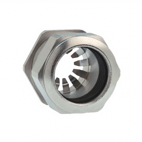 1181.09.080 / Prensaestopas Progress® EMC Rapid Latón niquelado con disco de contacto - Rosca métrica entrada LARGA - Pg 9