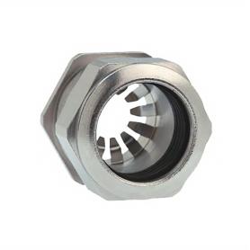 1181.09.100 / Prensaestopas Progress® EMC Rapid Latón niquelado con disco de contacto - Rosca métrica entrada LARGA - Pg 9
