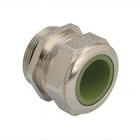 1080.13.91.110 / Prensaestopas Progress® EMC latón niquelado con manguito de contacto - Rosca métrica de entrada CORTA - Pg 13
