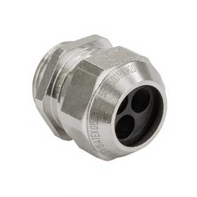 EX1310.17.4.015 / Prensaestopas AGRO Ex latón niquelado Seguridad incrementada Ex e II - Rosca métrica entrada CORTA - M16x1.5