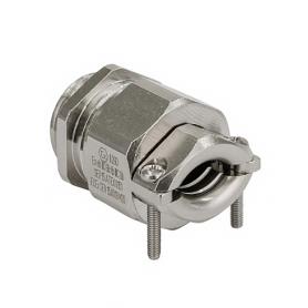 EX1803.17 / Progress® latón niquelado Seguridad incrementada Ex e II - Rosca métrica entrada CORTA - M16x1.5