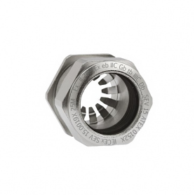 EX1081.17.080 / Progress® EMC Rapid Latón niquelado Seguridad incrementada EX e II - Rosca métrica entrada CORTA - M16x1.5