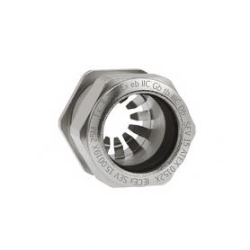 EX1081.17.100 / Progress® EMC Rapid Latón niquelado Seguridad incrementada EX e II - Rosca métrica entrada CORTA - M16x1.5