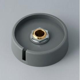 """A3050088 / COM-KNOBS 50 - Con orificio para elemento de marcaje """"Dial"""" 50x16mm - PA 6 - volcano - Orificio de eje 8 mm"""
