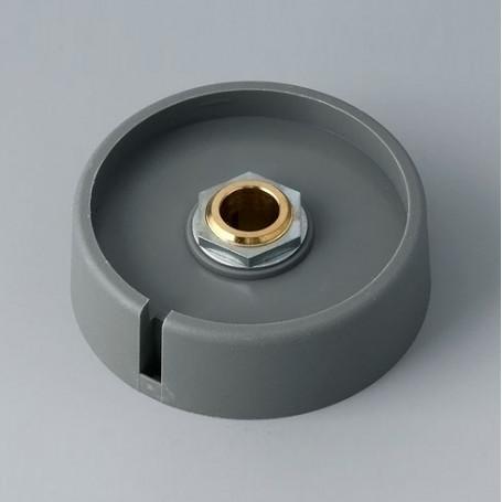 "A3050088 / COM-KNOBS 50 - Con orificio para elemento de marcaje ""Dial"" 50x16mm - PA 6 - volcano - Orificio eje 8 mm"