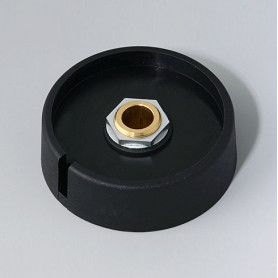 "A3050089 / COM-KNOBS 50 - Con orificio para elemento de marcaje ""Dial"" 50x16mm - PA 6 - nero - Orificio eje 8 mm"