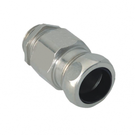 1700.50.45 / Comb. glándulas conductoras Progress® Latón niquelado con prensaestopa integrado - Rosca métrica CORTA - M50x1.5
